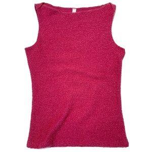 VINTAGE Victoria's Secret Pink Sparkle Fuzzy Top S